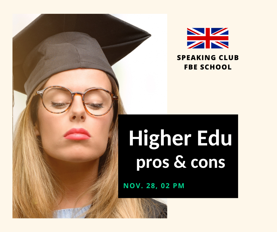 Speaking Club: Higher Education